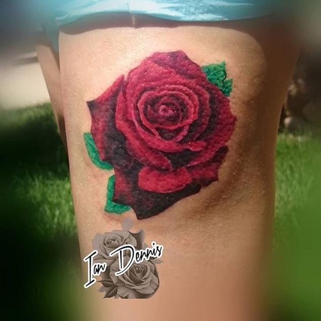 #rose #rosetattoo #tattoo #tattooed #col
