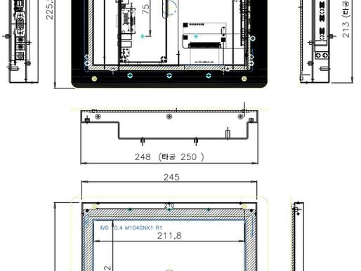 CTPN104 10.4 일체형 모니터