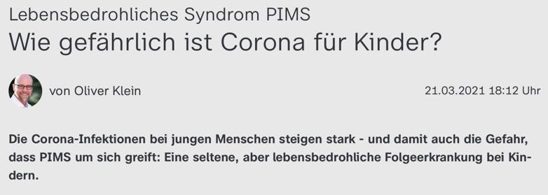 Syndrom PIMS: Wie gefährlich ist Corona für Kinder?