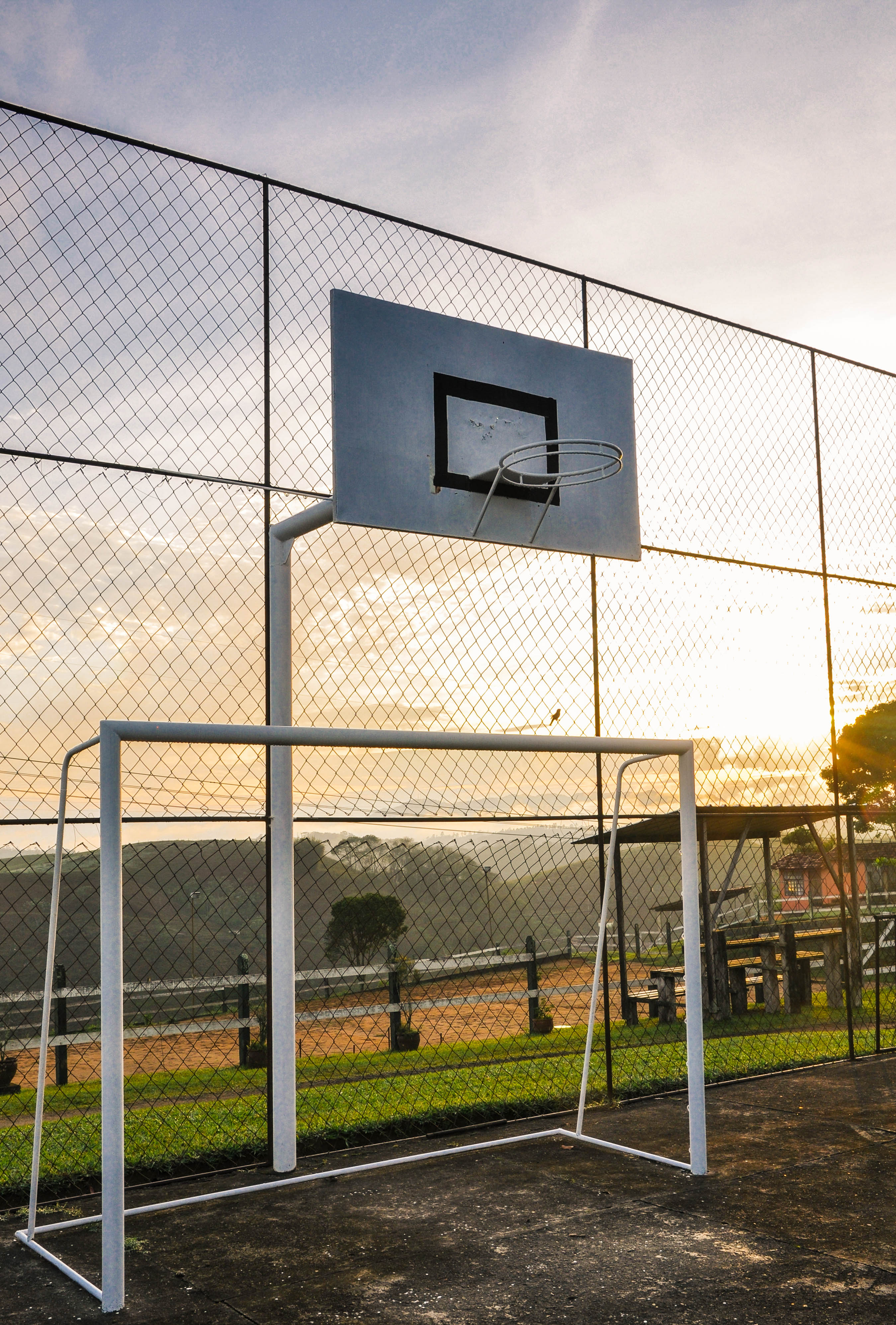 Futebol, basquete, volei e vista <3