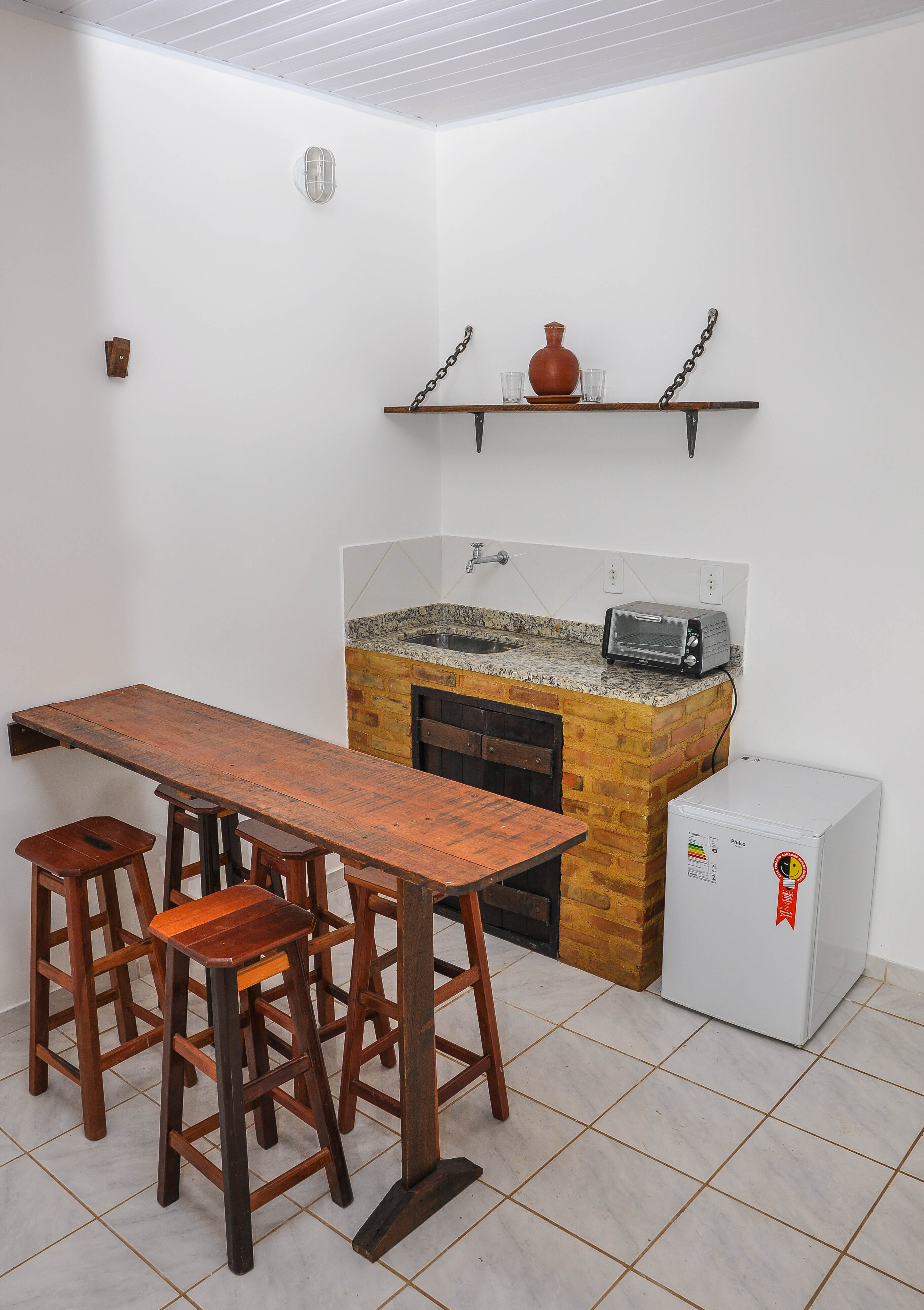 Cozinha da suíte Terracota