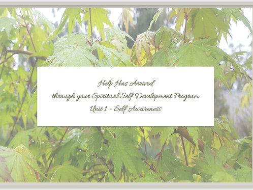 Unit 1 - Spiritual Self Development Program - Self Awareness