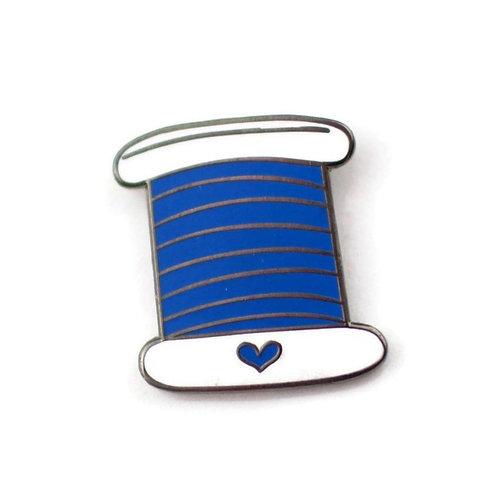 Blue Thread Enamel Pin - Benefitting Make-A-Wish