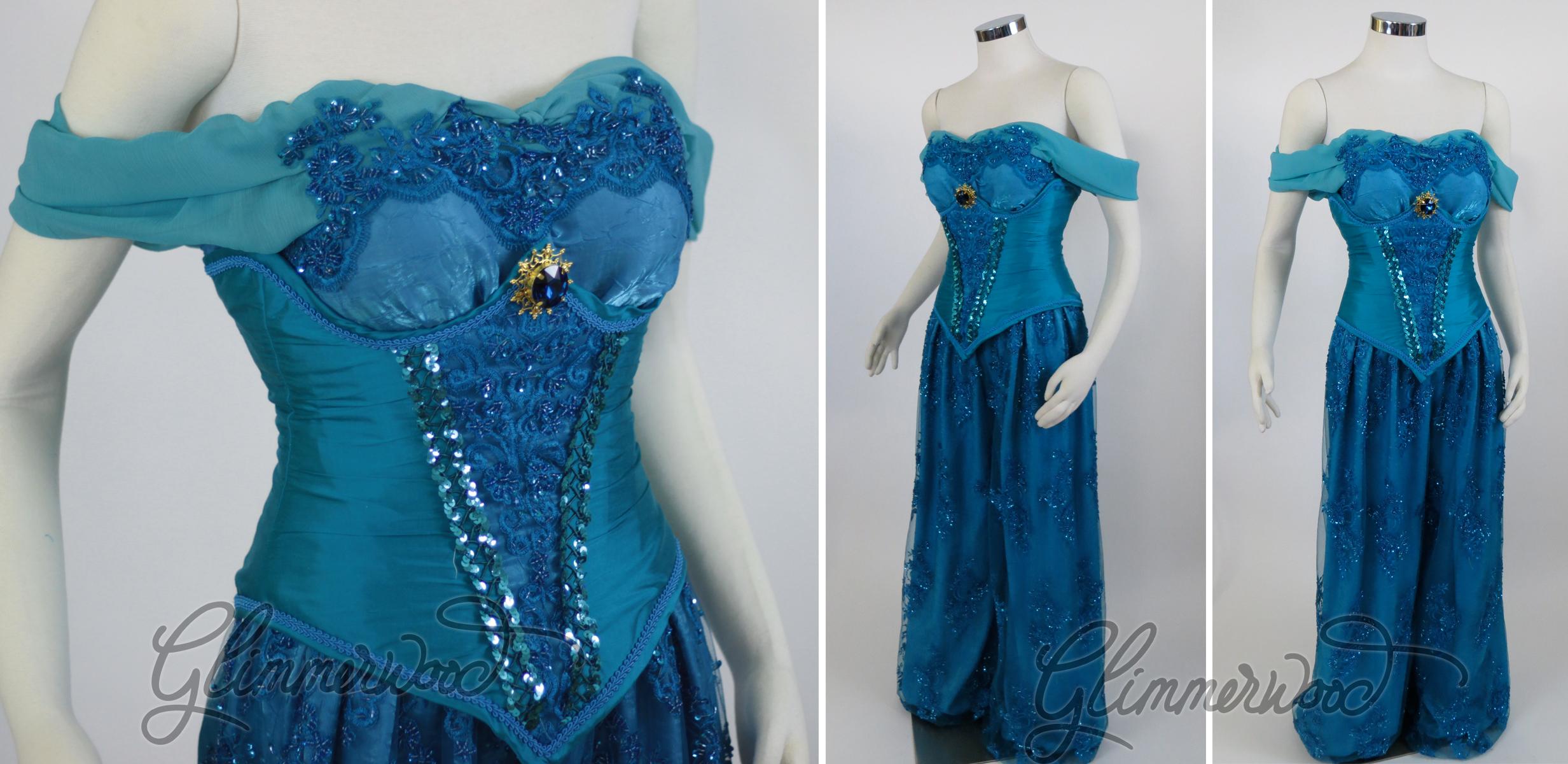 Modest Arabian Princess in Blue