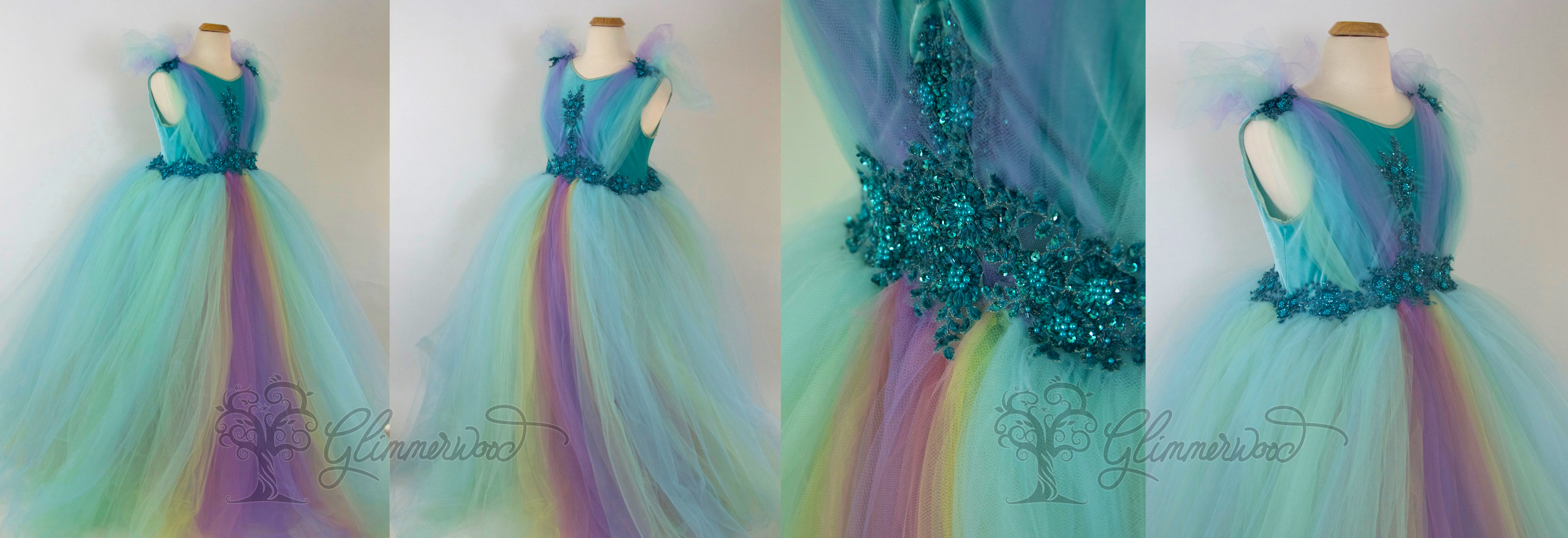 Rainbow Maternity Gown