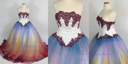 Sunset Wisteria Gown