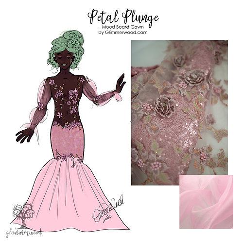 Petal Plunge: Mood Board Gown