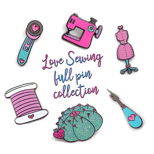 Love Sewing Colelction Enamel Pin Set
