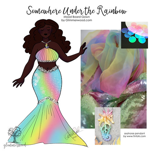Somewhere Under the Rainbow: Mood Board Gown