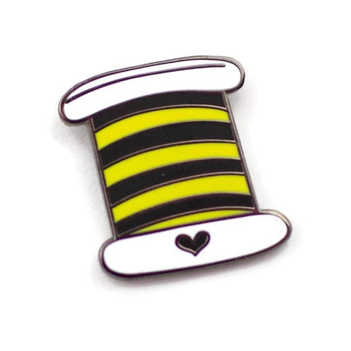 Yellow and Black Thread Enamel Pin - Benefitting The Honeybee Conservancy