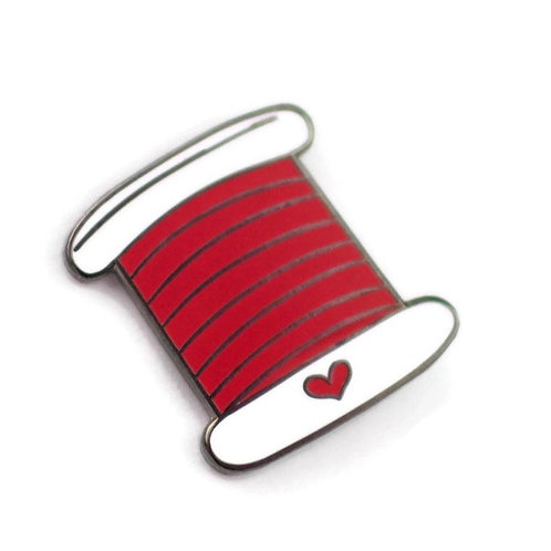 Red Thread Enamel Pin - Benefitting St. Judes Hospital