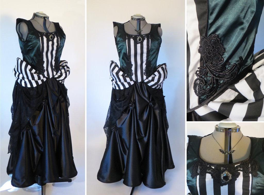 Tim Burton Inspired Evening Gown