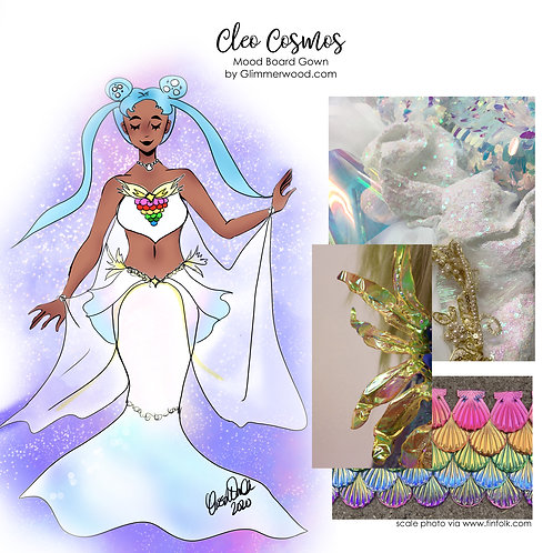 Cleo Cosmos: Mood Board Gown