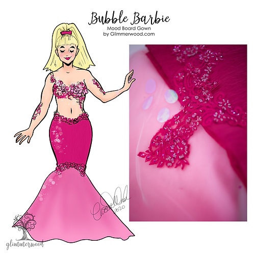 Bubble Barbie: Mood Board Gown