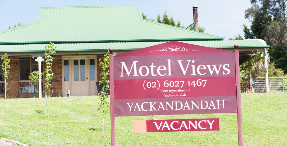 Entrance to Motel Views