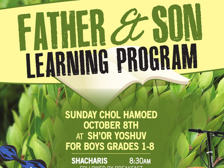 Father & Son Learning Program
