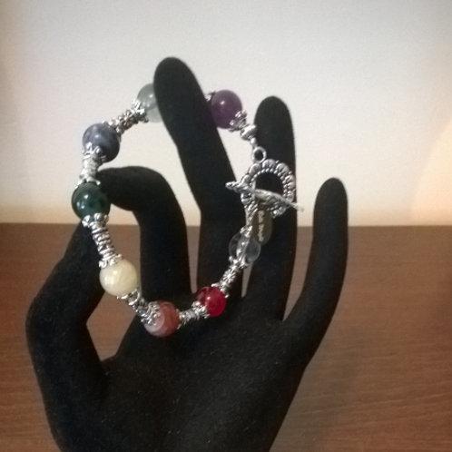 Chakra healing bracelet w/clasp
