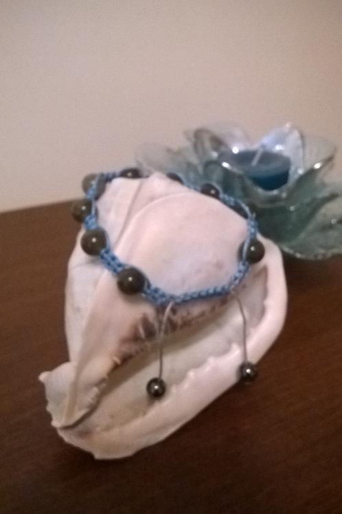 10mm Labradorite beaded Shamballa bracelet