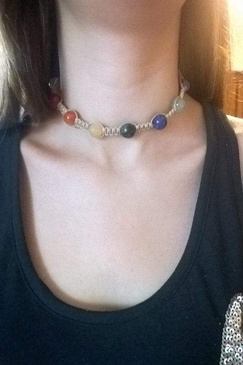Shamballa Chakra Healing Necklace (Choker Style)
