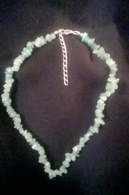 18in with 2in ext Green Aventurine Necklace