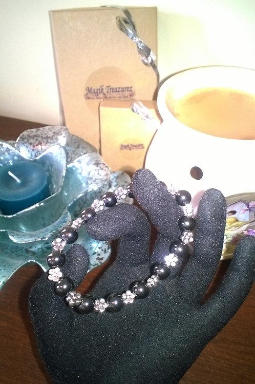 7 inch stretch Magnetic Hematite bracelet