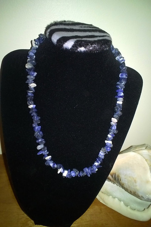 18in with 2in ext Sodalite Necklace