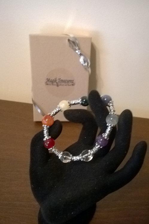 Chakra healing stretch bracelet