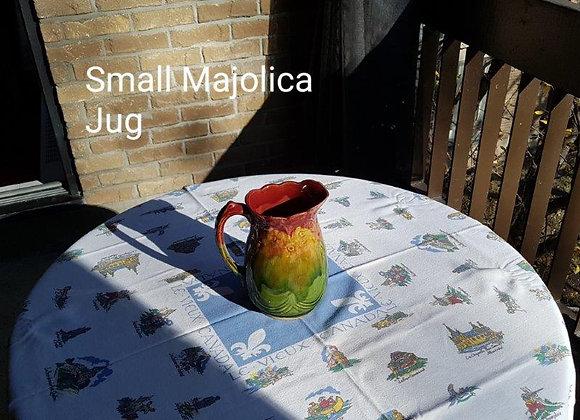 Small majolica jug
