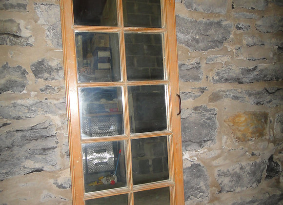 Pine window mirror