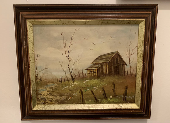 Oil Painting, Autumn House