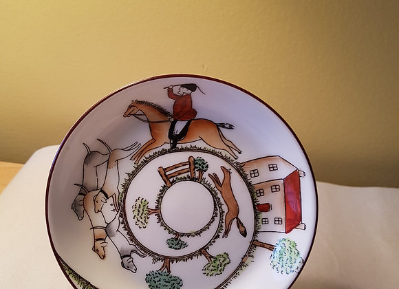 Staffordshire Bone China Miniature Plate - The Hunt
