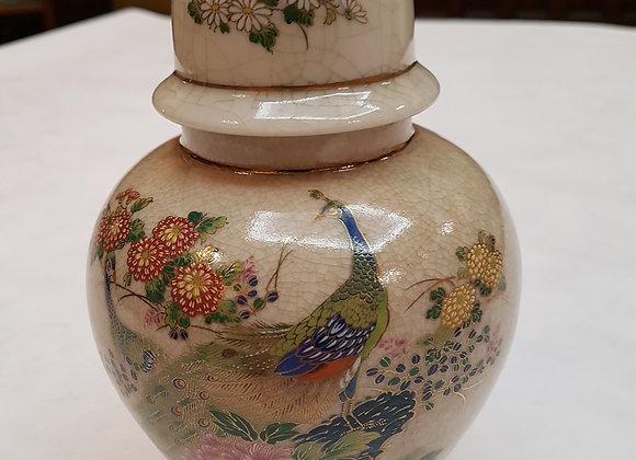 Oriental peacock vase