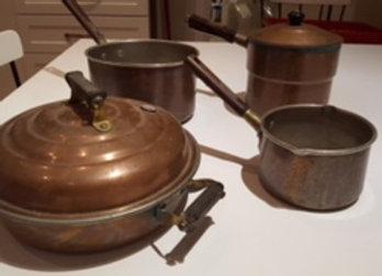 Copper pot collection