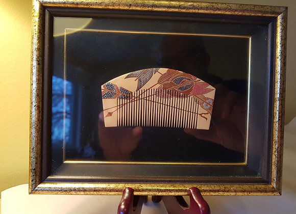 Ornate Wooden Hair Comb