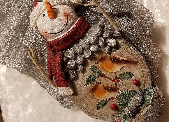 Snowman, wooden
