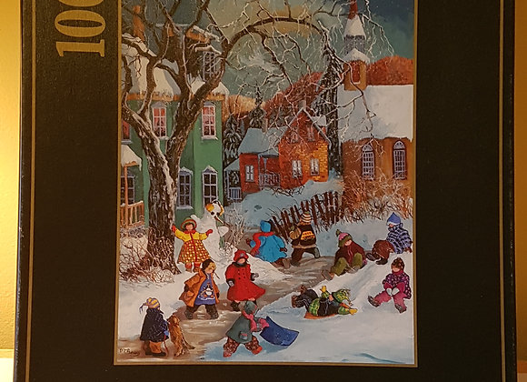 Ravensburger Puzzle 1000 pieces: Children at play in the snow