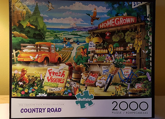 Country Road Puzzle 1000 pieces: Home Grown Fresh Veggies