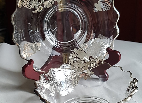 Silver Deposit pickle dish with underplate