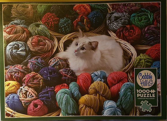 Cobble Hill Puzzle 1000 pieces: Puss n' Wool