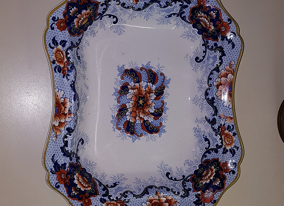 Blue Open Serving Dish