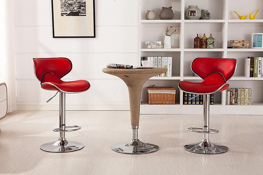 bar stools, red bar stools, stylish bar stools