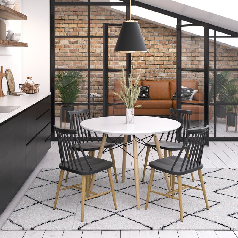 dining table, dining set, modern design, clean look, breakfast table