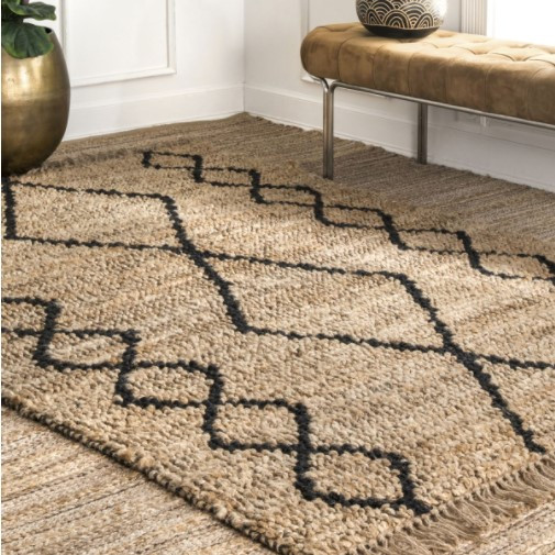 Jute rug, jute design, boho rug, boho style