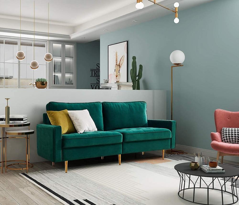 retro sofa, midcentury sofa, living room furniture