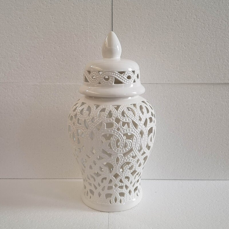 decorative urn, boho urn, boho design