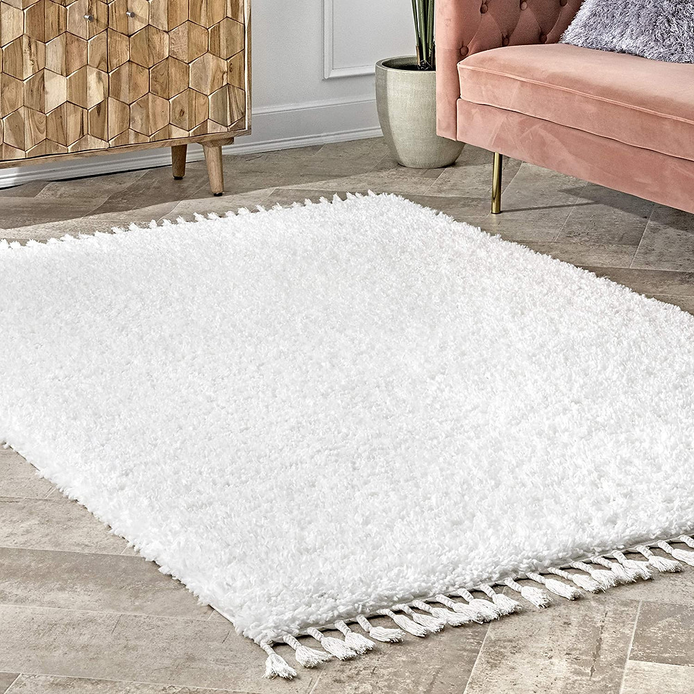 Rug, carpet, plush rug, interior decoration, living room, white rug, modern rug