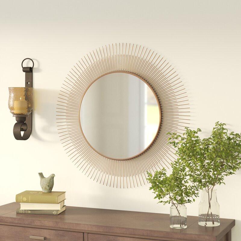 sunburst mirror, mirror, boho mirror, interior design