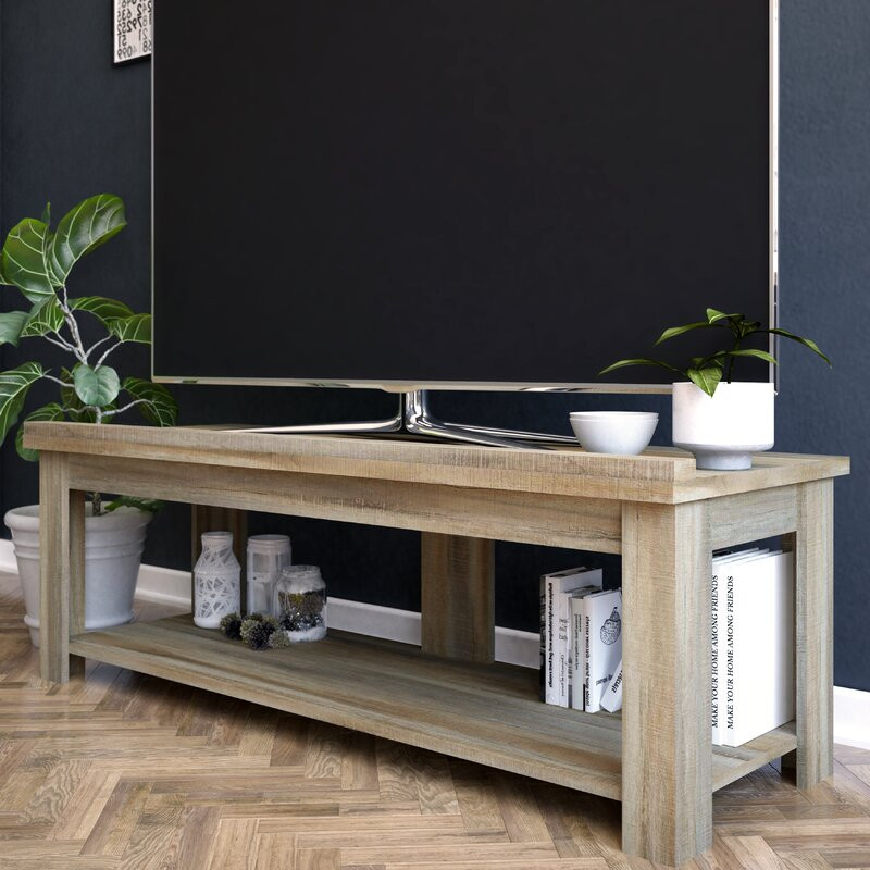 television stand, top 10, rustic, natural wood