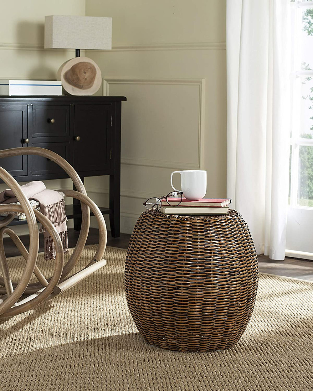 table, interior design, ratan table, living room, coffee table