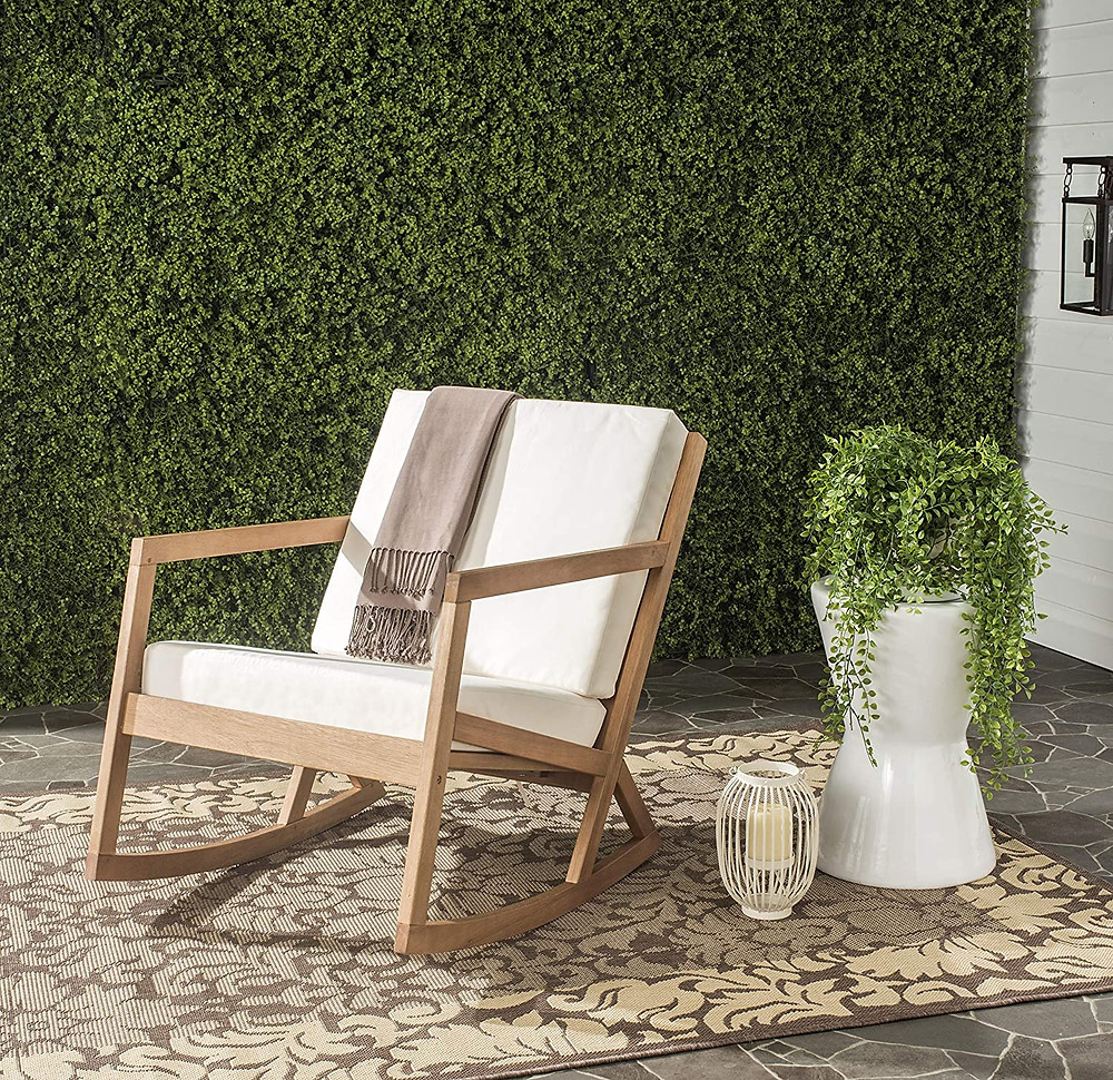 outdoor seating, rocking chair, modern style